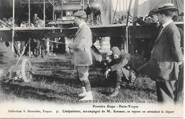 A/474       Aviation -   Circuit De L'est Aout 1910 - 1ére étape  Paris-troyes        En Attendant Le Départ - Reuniones