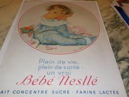 ANCIENNE PUBLICITE  LAIT CONCENTRE SUCRE UN BEBES NESTLE 1932 - Posters