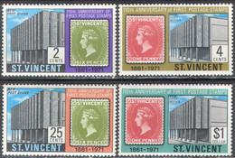 M4227 ✅ Postage Stamps On Stamps Kings Monarchs Queen Victoria 1971 St. Vincent 4v Set MNH ** - Francobolli Su Francobolli
