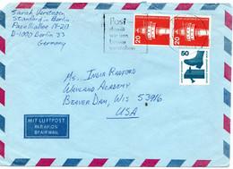 53215 - Berlin - 1977 - 1@50Pfg. Unfallverhuetung & 2@20Pfg. I&T A. Lp.-Bf. Von BERLIN Nach Beaver Dam, WI (USA) - Briefe U. Dokumente