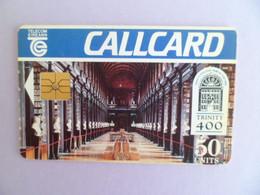 Telecarte  - 1992 - 50 Units Callcard - 400 Ans Trinity College DUBLIN Irlande - Ireland