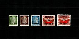 Kurland: MiNr. 1-4, Postfrisch, **, BPP Signatur - Bezetting 1938-45