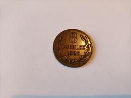 ------1 Piece-8-Doubles-1885-H-Guernesey-bronze-( Qualité-en-SUP+++++++---- - Guernsey