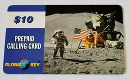 """Carte GLOBAL KEY PREPAID CALLING CARD 10$ """"LEM Mission APOLLO"""" - Thème Conquête Spatiale NASA - Other"""