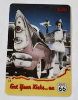 """Carte BENCHMARC 20$ """"Get Your Kicks... On ROUTE 66"""" - Thème Voiture USA - Other"""