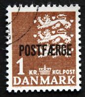 Denmark 1967 POSTFÆRGE Minr.34 II    (o )( Lot  G 1213 ) - Paketmarken