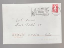 Flamme Dpt 59 : SECLIN (SCOTEM N°  5636 émise Le 23/06/1981) : Collégiale - Carillon - Hospice - Renaissance Flamande - Maschinenstempel (Werbestempel)