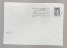 Flamme Dpt 59 : SECLIN (SCOTEM N°  5636 émise Le 23/06/1981) : Collégiale - Carillon - Hospice - Renaissance Flamande - Oblitérations Mécaniques (flammes)