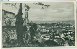 Valkenburg 1943; Panorama Met Ruïne - Gelopen. (Ph. V.d. Heuvel-Lemmens, Valkenburg) - Valkenburg