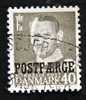 Denmark 1955 POSTFÆRGE  Minr.37     (O )( Lot  G 1102 ) - Paketmarken