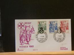 95/193 FDC  ORDRE DE MALTE  1981  NATALE - Sovrano Militare Ordine Di Malta