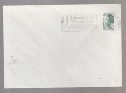 Flamme Dpt 59 : VALENCIENNES Ppal (SCOTEM N°  6893 Du 13/08 => 06/11/1984) : 20ème Anniversaire Université Valenciennes - Annullamenti Meccanici (pubblicitari)