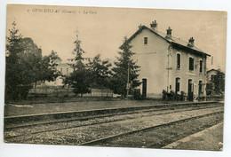 23 GENOULLAT GENOUILLAC Rare Visuel Gare Des Voyageurs No 9 Editeur ? Voies Chemin Fer Quai 1920   / D19 2021 - Other Municipalities