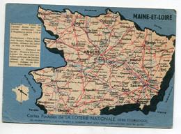 49 Carte DEPARTEMENT  Du MAINE Et LOIRE éditée Par La Loterie Nationale   / D19 2021 - Unclassified