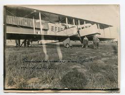 AVIATION NEUSTADT 020- Régim 12 Em PHOTOGRAPHIE 9x12  Souvenir Passage Avion GOLIATH Sur Notre Terrain - Unclassified