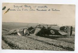 AVIATION NEUSTADT 021- Régim 12 Em RAB  CARTE PHOTO  Accident Avion Breguet Liberty 11 Em Escadrille Vers Lachen Neustad - Unclassified