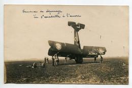 AVIATION NEUSTADT 022- Régim 12 Em RAB  CARTE PHOTO  Accident Avion Dépanage 5 Em Escadrille à L'oeuvre - Unclassified