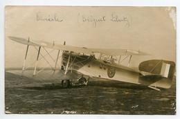 AVIATION NEUSTADT 023- Régim 12 Em RAB  CARTE PHOTO  Avion EUREAL Bréguet Liberty Avant Accident  12 Mai 1921 Voir Dos - Unclassified