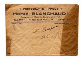 Enveloppe Entete Photographie Hippique Banchaud Saumur - Altri