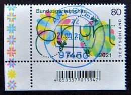 "Bund/BRD April 2021,  Sondermarke ""Bundesgartenschau Erfurt"" MiNr 3600, Ecke 3, Gestempelt - Usati"