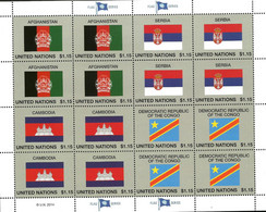 Flaggen Flag Drapeaux ONU  2014 Nations Unies Bureau De New York Neufs ** - Ungebraucht