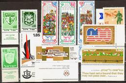 """Lot Israel: Freimarken Landschaft 1971 (ab MiNr. 524), 4 Werte """"Städtewappen"""" Und Einige Sonderausgaben. Alle Mit TAB. - Ungebraucht (mit Tabs)"""