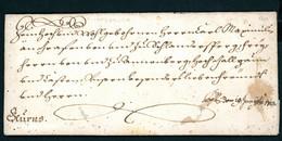 Schnörkelbrief Österreich Inssbruck 1722 - ...-1850 Voorfilatelie