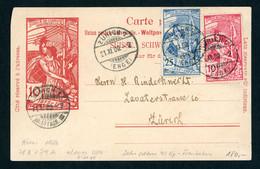 Schweiz Ganzache Mit Zusatzfrankatur Zürich 1900 - Unclassified