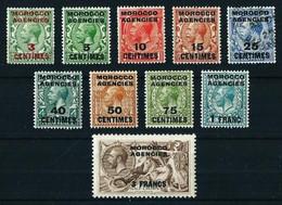 Marruecos (Británico) Nº 1/10 Cat.42,80€ - Morocco Agencies / Tangier (...-1958)