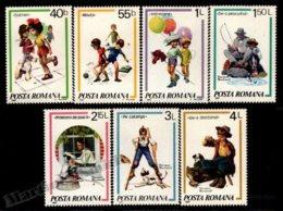 Romania - Roumanie 1981 Yvert 3356-62, Children. Kids Games, Palade & Rockwell Illustrations - MNH - Nuovi