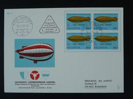 Lettre Commemorative Cover Dirigeable Airship Zeppelin Sursee 1976 Suisse Ref 100977 - Zeppelin