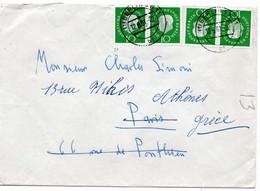 53241 - Berlin - 1961 - 10Pfg. Heuss III, 2 Waag. Paare A. Bf. BERLIN Nach Frankreich, Nachgesandt N. Griechenland - Briefe U. Dokumente