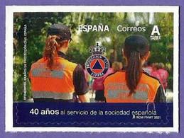 España. Spain. 2021. Efemerides. 40 Aniversario Protección Civil - 2011-... Nuovi & Linguelle