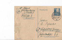Duitsland - Bezetting Geallieerden Postkaart 27-4-49 (3418) - Postkarten - Gebraucht
