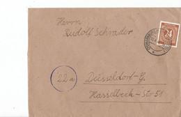 Duitsland - Bezetting Geallieerden Brief Met Michelno. 925 (3422) - Postkarten - Gebraucht