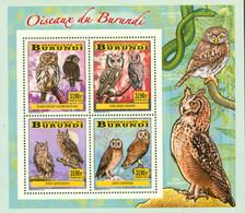 Burundi 2014 - Les Oiseaux Du Burundi - Chouettes Et Hiboux - Bloc Collectif - 2010-..: Ongebruikt