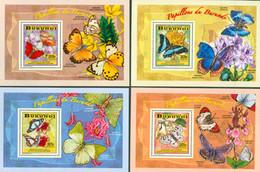 Burundi 2014 - Les Papillons Du Burundi - 4 Blocs De Luxe - 2010-..: Ongebruikt