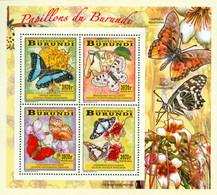 Burundi 2014 - Les Papillons Du Burundi  - Bloc Collectif - 2010-..: Ongebruikt