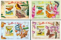 BURUNDI 2014 -  Chenilles Et Papillons - I I - 4  Blocs De Luxe-3770 BIF - 2010-..: Ongebruikt