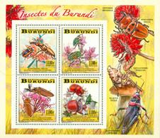 BURUNDI 2014 -  Insectes Et Fleurs - Bloc Collectif - 2010-..: Ongebruikt