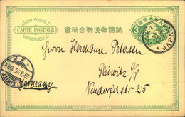 1895, 3 Sen Stationery Card From TOKYO To Gleiwitz - Unclassified