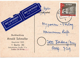 53270 - Berlin - 1964 - 20Pfg. Alt-Berlin EF A. Lp.-Buecherzettel Von BERLIN Nach Freiburg - Briefe U. Dokumente