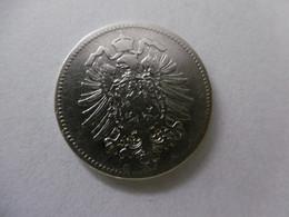 1 Mark Deutsches Reich 1874 D  Kaiserreich Orginal Echt Umlauf SILBER Zust.s.Foto  Selten - 1 Mark