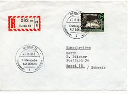 53282 - Berlin - 1962 - 1DM Alt-Berlin EF A. R-FDC Von BERLIN In Die Schweiz - Briefe U. Dokumente