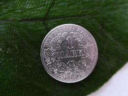1 Mark Deutsches Reich 1874 A  Kaiserreich Orginal Echt Umlauf SILBER Zust.s.Foto  Selten - 1 Mark