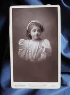 Photo CDV  Bellingard à Lyon  Portrait Fillette  Melle Maurigny  CA 1890 - L566C - Anciennes (Av. 1900)