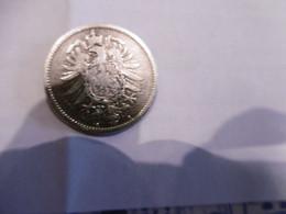 1 Mark Deutsches Reich 1874 G  Kaiserreich Orginal Echt Umlauf SILBER Zust.s.Foto  Selten - 1 Mark