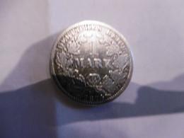 1 Mark Deutsches Reich 1874 H  Kaiserreich Orginal Echt Umlauf SILBER Zust.s.Foto  Selten - 1 Mark