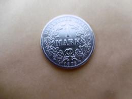 1 Mark Deutsches Reich 1875 B  Kaiserreich Orginal Echt Umlauf SILBER Zust.s.Foto  Selten - 1 Mark