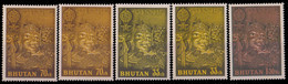 BHUTAN 1963-Unissued Stamps-Buddha-Malaria-5 Different Stamps, Colour Variety-MNH, Scarce - Bhutan